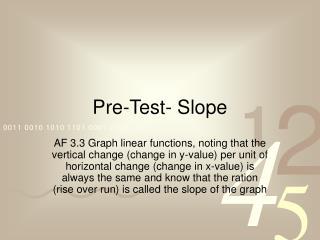 Pre-Test- Slope
