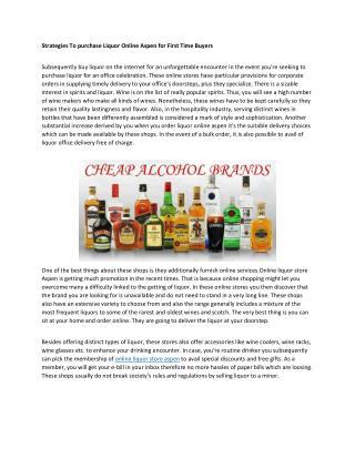 liquor online aspen