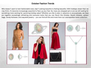 October Fashion Trends