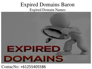 Expired Domains Baron - Where to Buy Domain Names