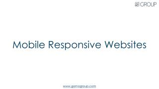Responsive Mobile Websites
