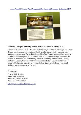 Anne Arundel County Web Design and Development Company Baltimore SEO