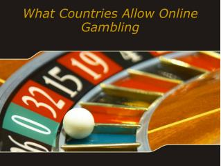 What Countries Allow Online Gambling