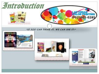 Las Vegas Color Printing for all printing needs