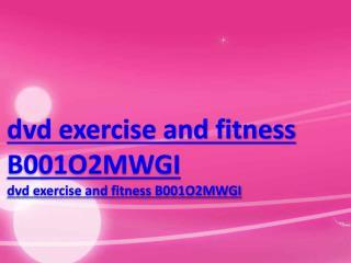 dvd exercise and fitness B001O2MWGI