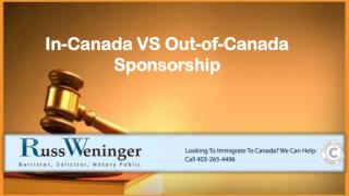 Sponsorship To Canada