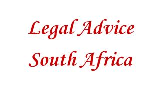 Legal Advice South Africa