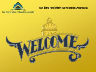 Tax Depreciation Schedules Australia for Schedule Calculator.