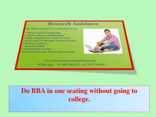 Do BBA in One Seating Without Going to College.