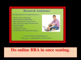 Do Online BBA in Once Seating