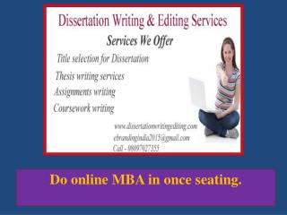 Do Online MBA in Once Seating