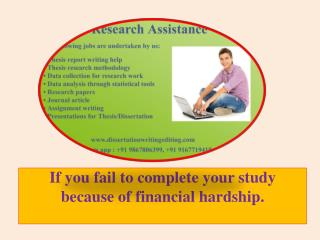 If You Fail to Complete Your Study Because of Financial Hardship