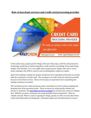 Merchant Services Accounts & Credit Card Processing Provider,