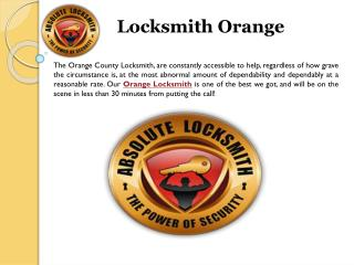 Locksmith Orange,Orange County California Locksmith
