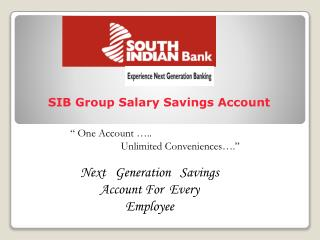 SIB Group Salary Savings Account