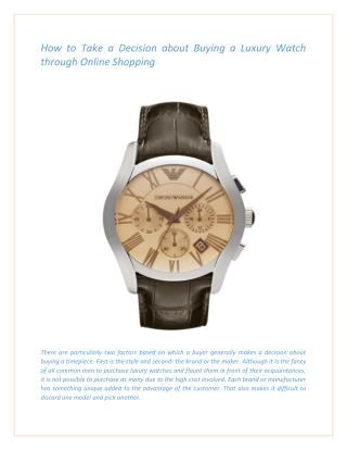 Hugo Boss Watches For Men at Pocket-Friendly Range.pdf