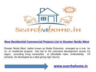New upcoming residential projects in Greater Noida West