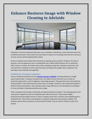 Enhance Business Image with Window Cleaning in Adelaide