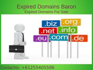 Expired Domains Baron Provide Best Servicies