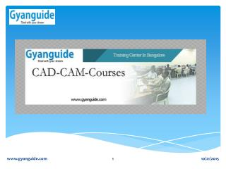 CAD CAM Training In Bangalore