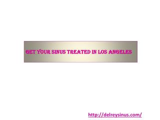 Get Your Sinus Treated in Los Angeles