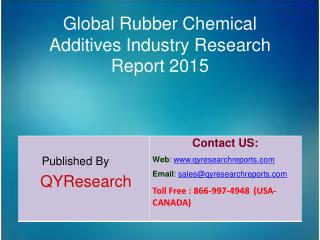 Global Rubber Chemical Additives Market 2015 Industry Study, Trends, Development, Growth, Overview, Insights and Outlook