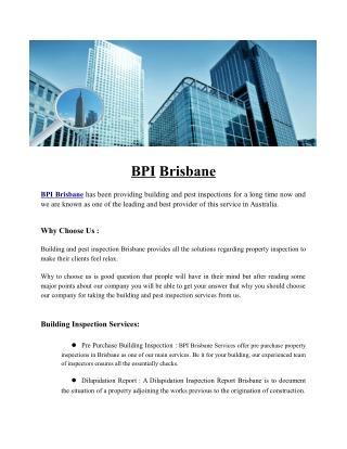 BPI Brisbane | Thermal Imaging