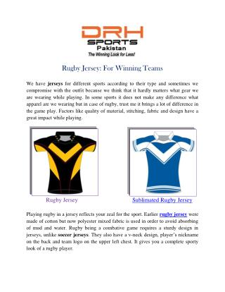 Rugby Jersey Manufacturers, Custom Sublimated Jerseys USA Australia