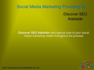 Social Media Marketing Services offer by Discover SEO Adelaide