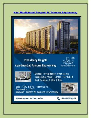 New Residential Projects in Yamuna Expressway