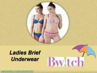 Ladies Designer Brief Underwear - Bwitch