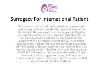 Surrogacy For International Patient