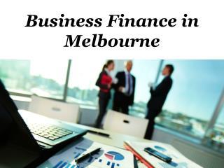 Business Finance Melbourne