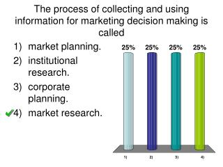 The process of collecting and using information for marketing decision making is called