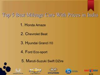 Top 5 Most Fuel-efficient Cars With Prices in India
