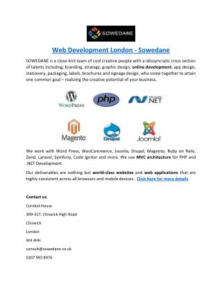 Web Development London - Sowedane