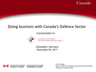 Doing business with Canada s Defence Sector
