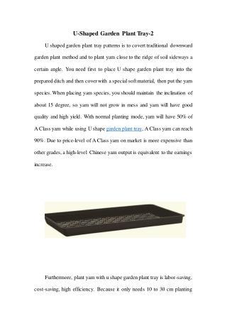 U-Shaped Garden Plant Tray-2
