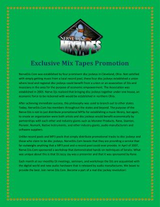 Exclusive Mix Tapes Promotion