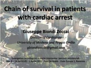 Chain of survival in patients with cardiac arrest