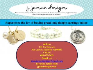 Experience the joy of buying great long dangle earrings online