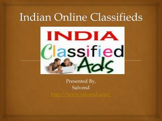 Indian Online Classifieds