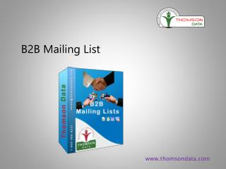 B2B Mailing Lists | Business Marketing list | Business to Business Email Lists