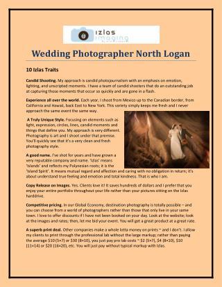 Wedding Photographer North Logan