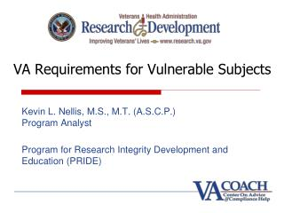 VA Requirements for Vulnerable Subjects