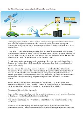 Get Driver Monitoring Systems A Beneficial Aspect For Your Business