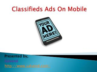 Classifieds Ads On Mobile