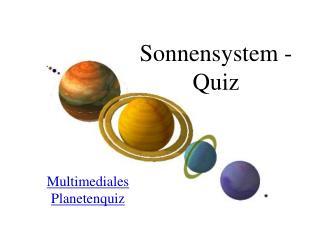 Sonnensystem - Quiz