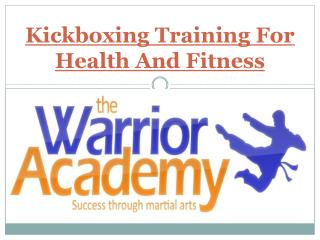 Kickboxing Training For Health And Fitness