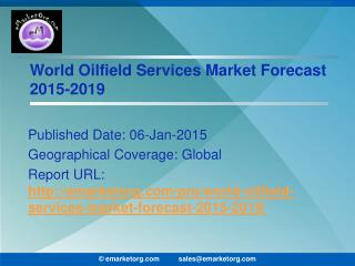 Oilfield Services Industry Comprehensively Researched Industry Analysis and Forecast 2015 Report